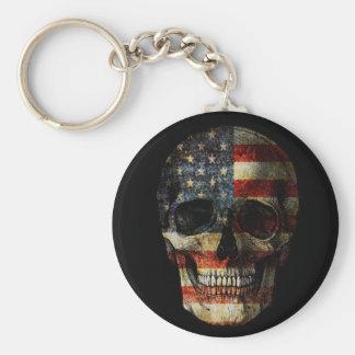 Llavero Cráneo de la bandera americana