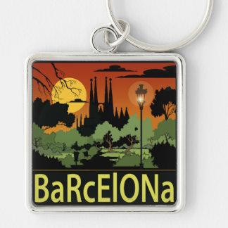 """Llavero cuadrado superior de Barcelona (2,00"""")"""