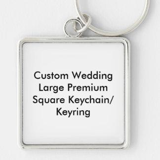 Llavero cuadrado superior del llavero del boda (l)