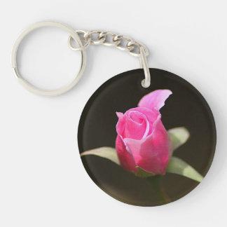 Llavero de acrílico de la foto - color de rosa