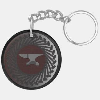 Llavero (de doble cara) del círculo - YUNQUE y