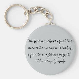 Llavero de Homeschool - cita de Gandhi