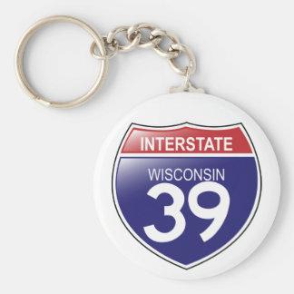 Llavero de I-39 Wisconsin