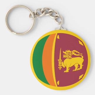 Llavero de la bandera de Sri Lanka Fisheye