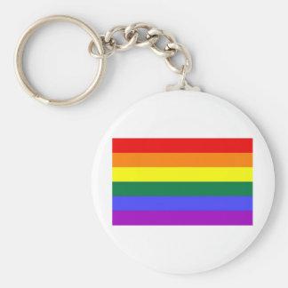Llavero de la bandera del arco iris