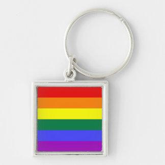 Llavero de la bandera del orgullo del arco iris