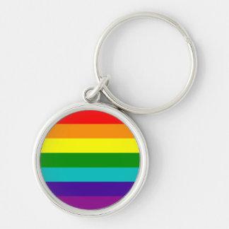 Llavero de la bandera del orgullo gay del arco