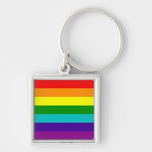 Llavero de la bandera del orgullo gay del arco iri