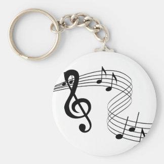 Llavero de la cuenta de la música del músico