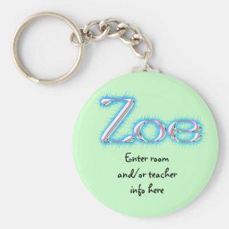 Llavero de la etiqueta de Zoe Nane