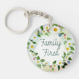 Llavero De la familia cita inspirada primero