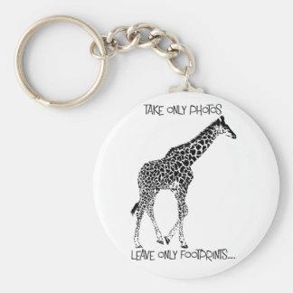 Llavero de la fauna de la jirafa