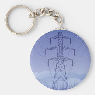Llavero de la línea eléctrica de la torre