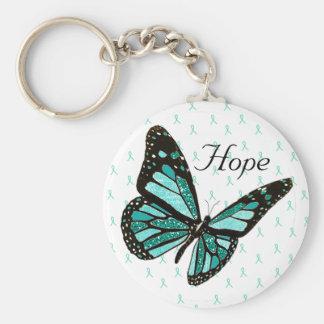 Llavero de la mariposa de la esperanza con las