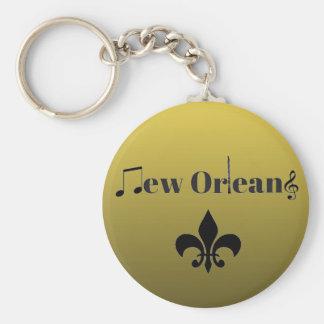 Llavero Llavero de la música de jazz de New Orleans del