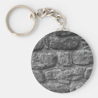 Llavero de la pared de piedra