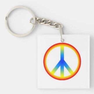 Llavero de la paz del orgullo gay