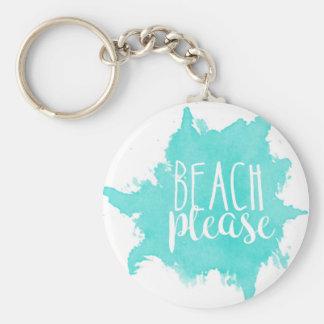 Llavero De la playa blanco por favor