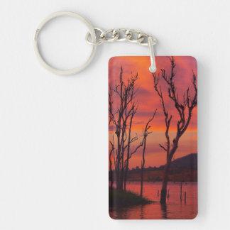 Llavero de la puesta del sol de Awoonga del lago