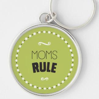 Llavero de la regla de las mamáes - fondo Editable