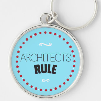 Llavero de la regla de los arquitectos - azul