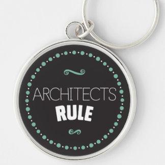 Llavero de la regla de los arquitectos - negro