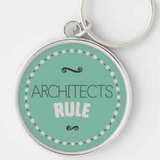 Llavero de la regla de los arquitectos - verde