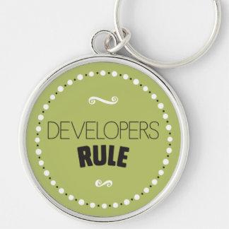 Llavero de la regla de los desarrolladores - fondo