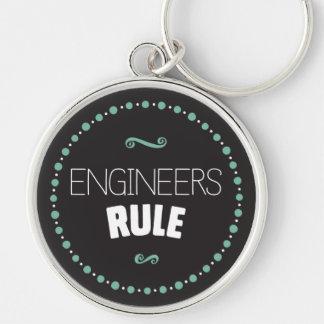 Llavero de la regla de los ingenieros - negro