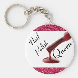 Llavero de la reina del esmalte de uñas