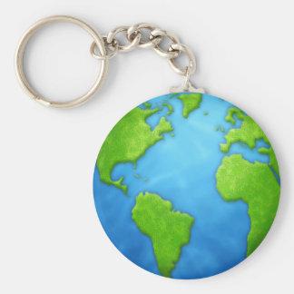 Llavero de la tierra del planeta
