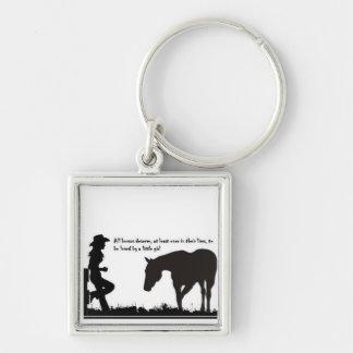 """Llavero de la vaquera - """"todos los caballos merece"""