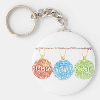 Llavero de las decoraciones de la Feliz Año Nuevo