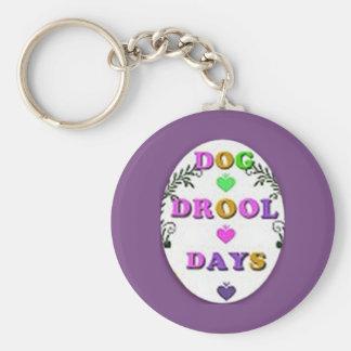 Llavero de los días del Drool del perro
