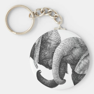Llavero de los elefantes africanos