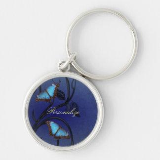 Llavero de los pares de la mariposa del zafiro