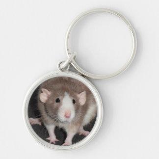 Llavero de lujo del metal de la rata