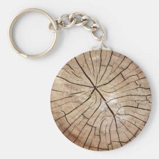 Llavero de madera agrietado del grano