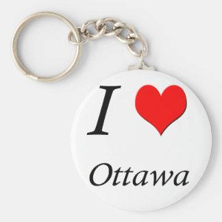 Llavero de Ottawa del luv del personalizable I