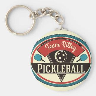 Llavero de Pickleball - diseño del vintage