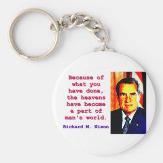 Llavero Debido a lo que usted ha hecho - Richard Nixon