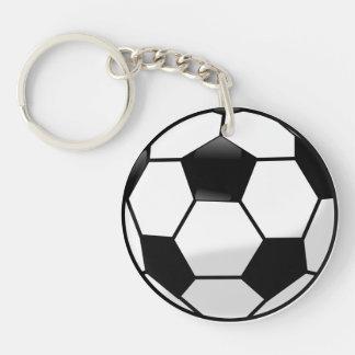 Llavero del acrílico de Soccerball