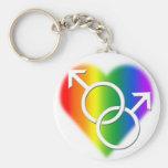 Llavero del amor del arco iris del llavero del org