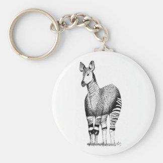 Llavero del arte del Okapi