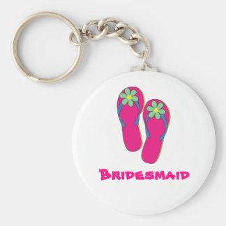 Llavero del boda de playa:  Diseño del flip-flop