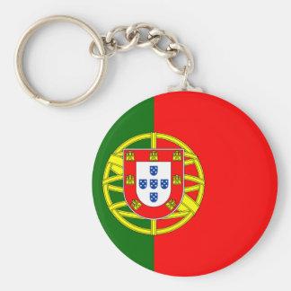 Llavero del botón de la bandera de Portugal