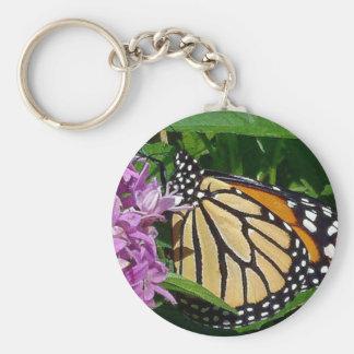 Llavero del botón de la mariposa