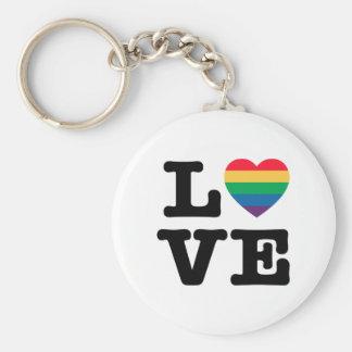 Llavero del botón del orgullo del corazón del amor