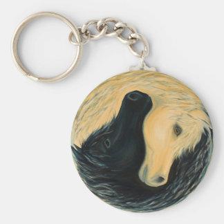 Llavero del caballo de Yin y de Yang