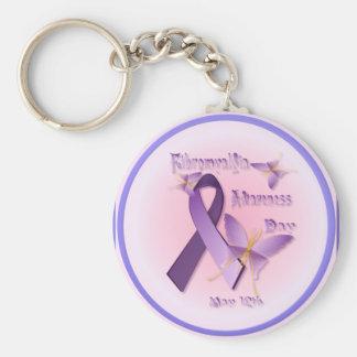 Llavero del día de la conciencia del Fibromyalgia
